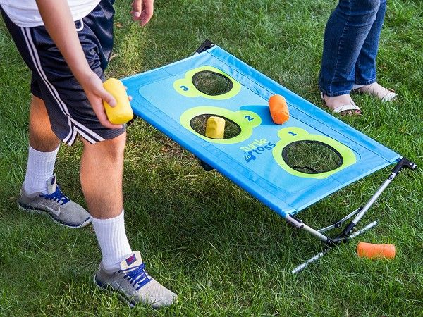 Similar To Cornhole But Light Enough To Take Anywhere. This Portable Bean  Bag Toss Game Unfolds To Playu2014no Assembly Needed. | Gift Ideas | Pinterest  | Bag ...