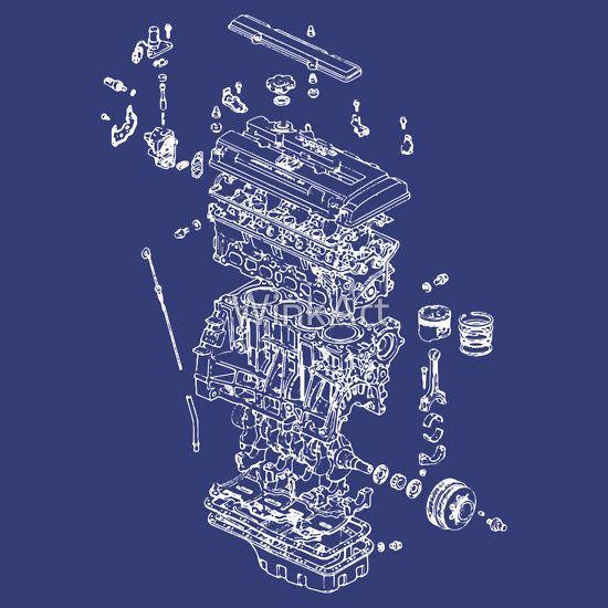 Honda b series engine exploded blueprint white things to buy honda b series engine exploded blueprint white malvernweather Gallery