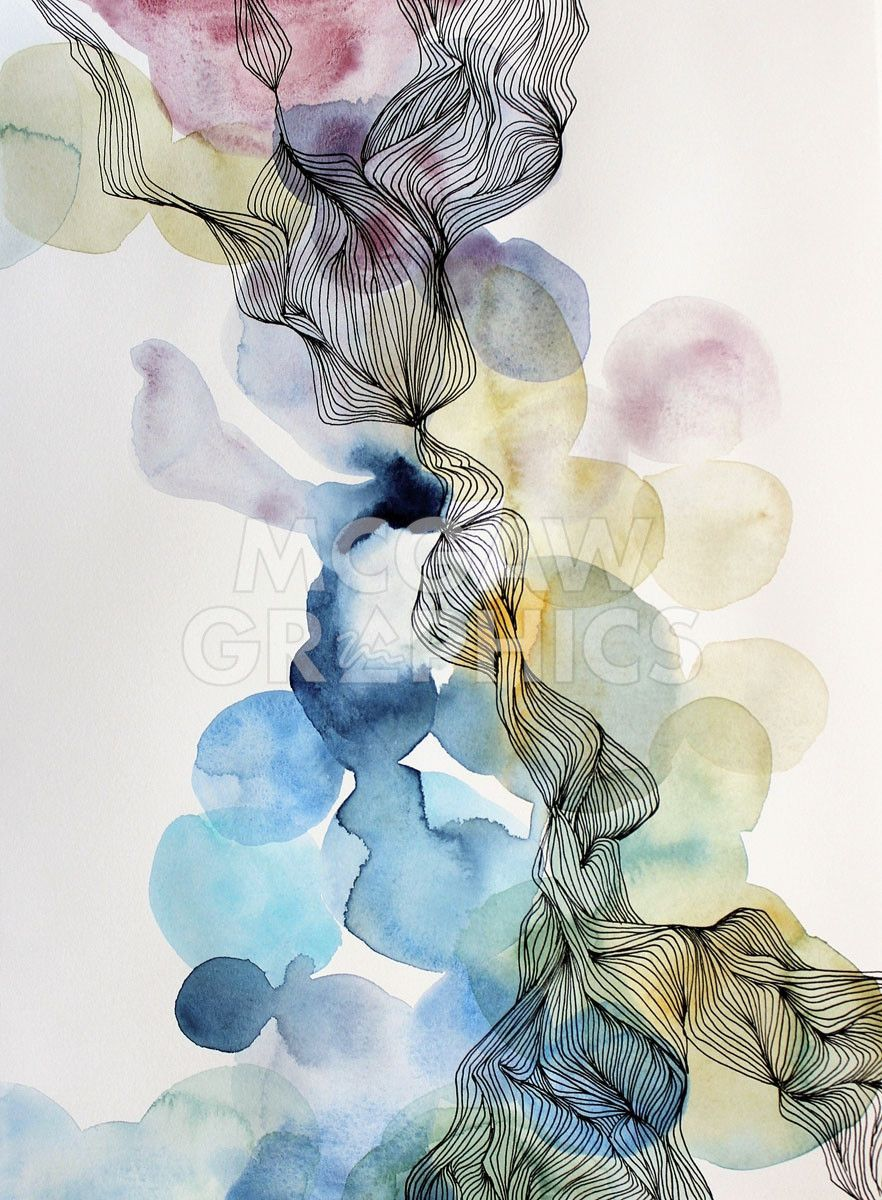 Stillness Watercolor Paintings Abstract Watercolor Art Diy