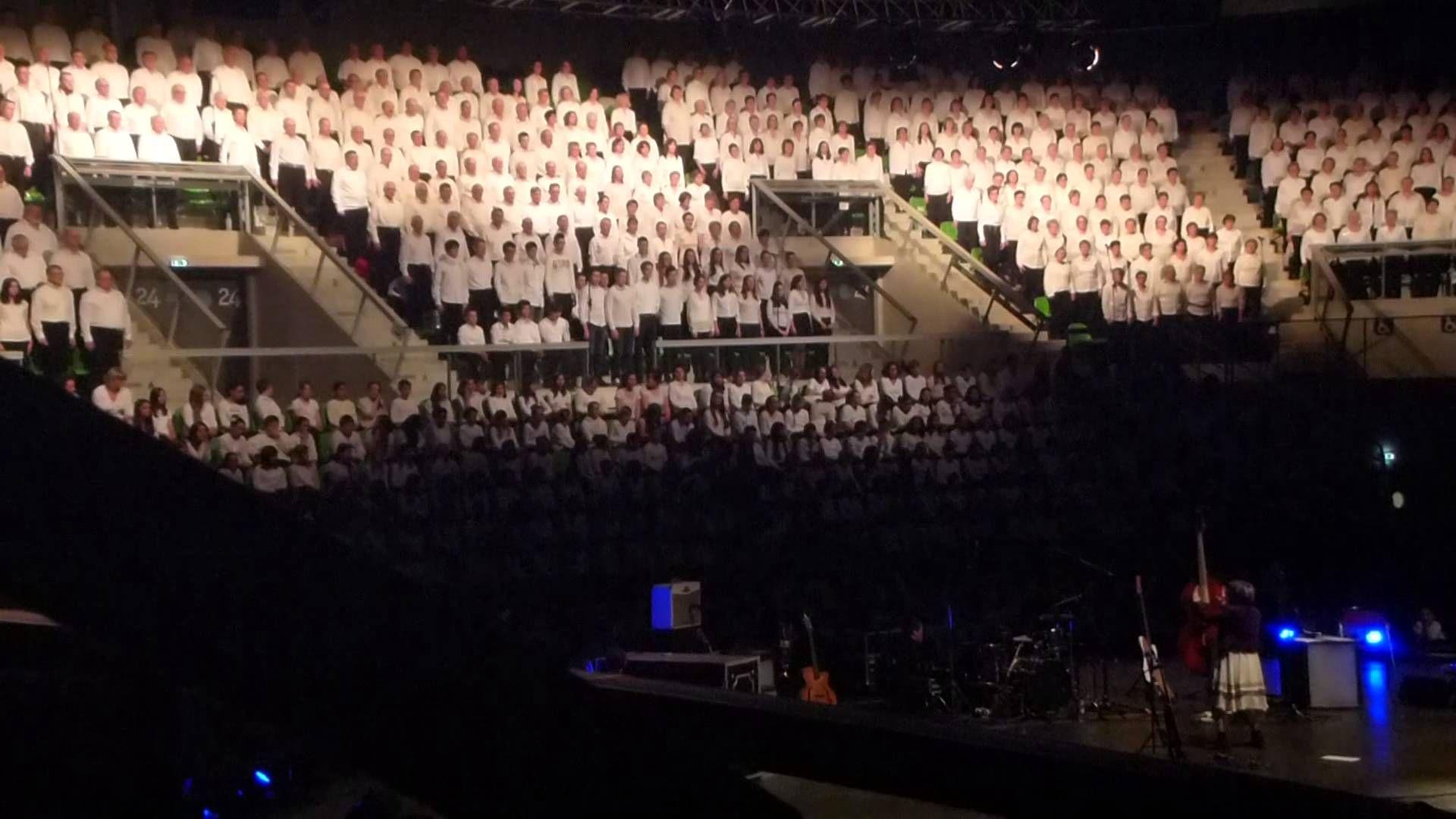 Concert 1300 choristes pour les restos du coeur - Axone Montbéliard 25 j...
