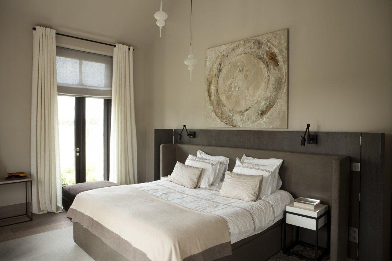 Achterwand bed slaapkamer pinterest verlichting for Slaapkamer bed