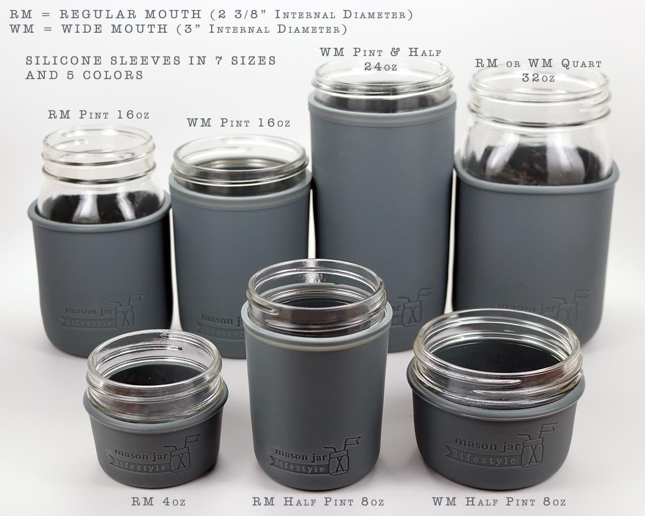 Silicone Sleeve For Quart Mason Jars Ball Mason Jars Mason Jars