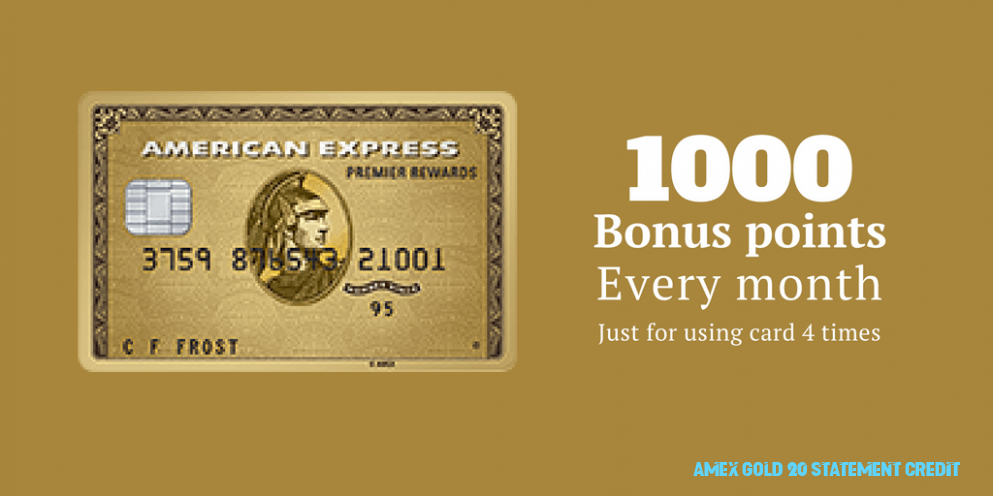 Simple Guidance For You In Amex Gold 14 Statement Credit  amex