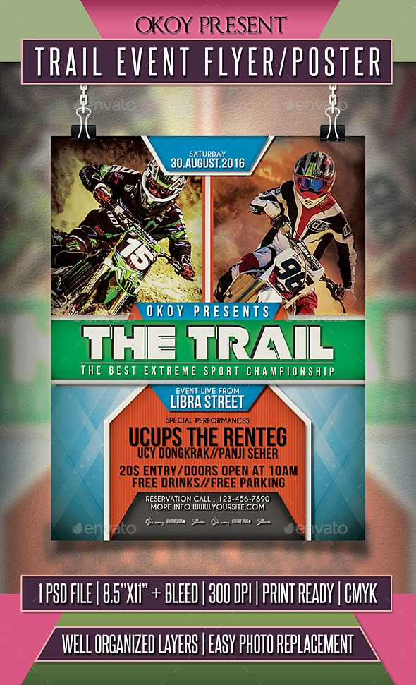 Trail Event Flyer \/ Poster Event flyers, Event flyer templates - event flyer