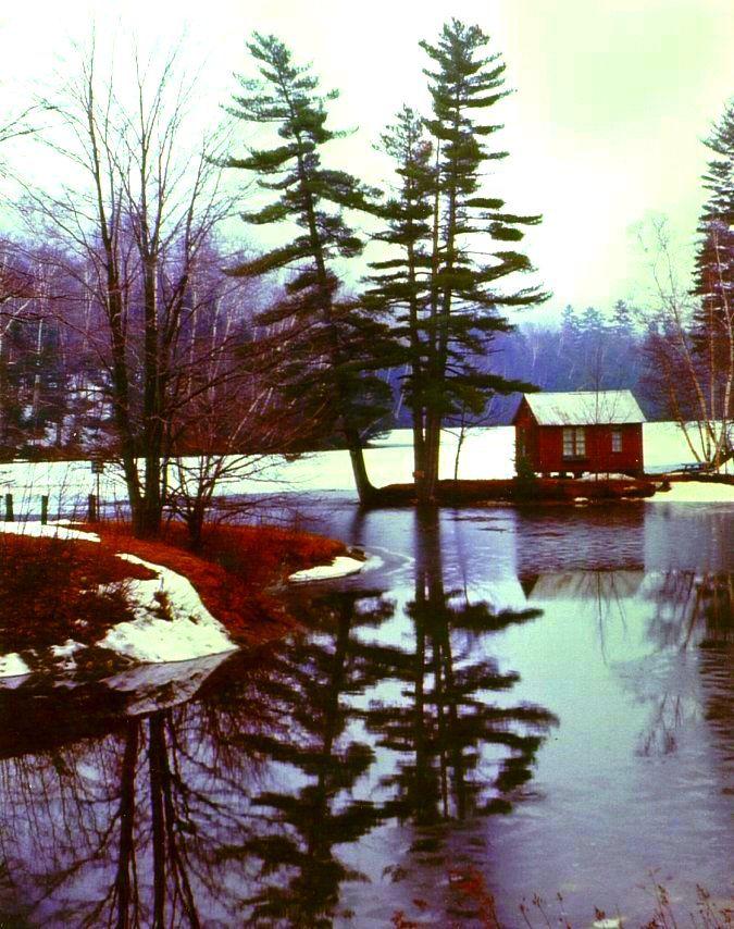 1.23.2016.Woodard Reservoir, Plymouth, VT, along Vermont Rt 100, april 1970