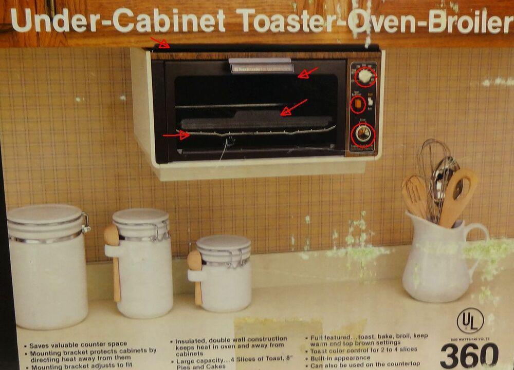 Under Cabinet Toaster Oven Broiler Toastmaster 360 Replacement Parts Toastmaster Under Cabinet Toaster Oven Toaster Oven Under Counter Toaster Oven