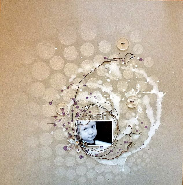 """ASS_Caden by loolabelle1961, via Flickr -- using the Balzer Designs """"Circle Explosion"""" stencil"""