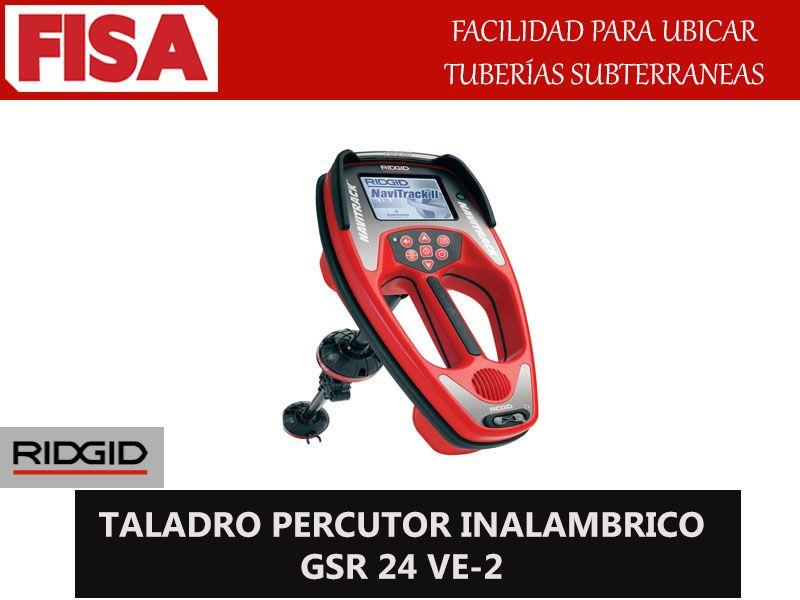 TALADRO PERCUTOR INALAMBRICO GSR 24 VE-2. Facilidad para ubicar tuberias subterraneas-  FERRETERIA INDUSTRIAL -FISA S.A.S Carrera 25 # 17 - 64 Teléfono: 201 05 55 www.fisa.com.co/ Twitter:@FISA_Colombia Facebook: Ferreteria Industrial FISA Colombia