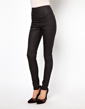 e66a7fa433033 Pieces Funky Coated High Waist Jegging www.us.asos.com; $33.75/ $50.73