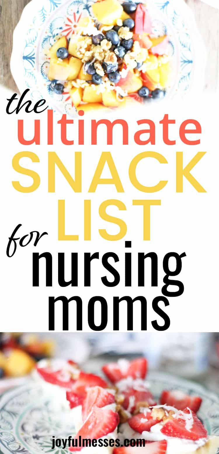 The nursing mama snack list my favorite healthy snacks