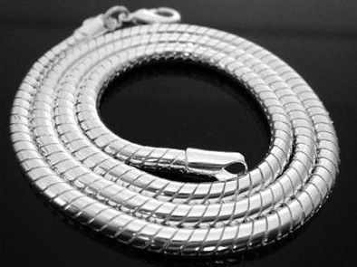 "Exquisite Men's Titanium Steel Snake Chain Necklace 20"" | eBay   £4.50"