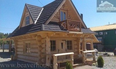Domek Z Bali Drewna Do Przeniesienia Promocja 5911404674 Oficjalne Archiwum Allegro Log Homes Exterior Rustic Cabin Design Small Log Homes