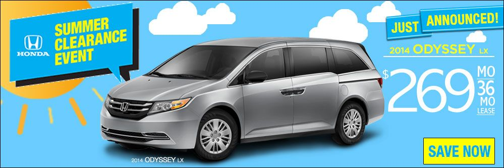 Honda Summer Clearance Event has great Odyssey deals!
