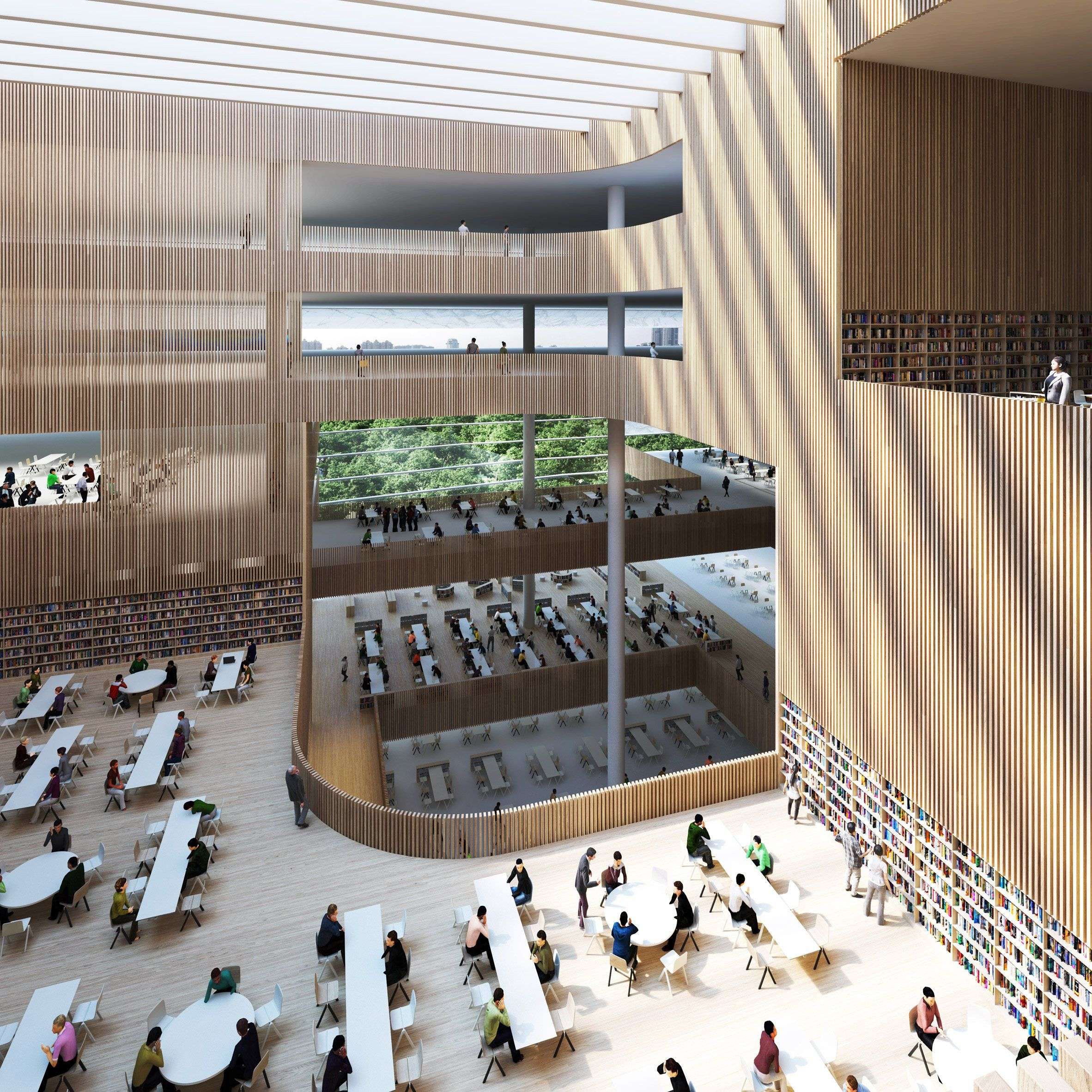 Shanghai Library By Schmidt Hammer Lassen Architects Culture  # Bibliotheque Placo Design