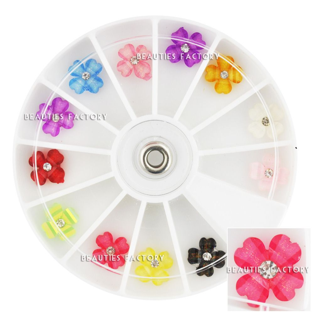 $5.99 (Buy here: http://appdeal.ru/88ux ) Beauties Factory  12pcs 4-Leaves Clover in Wheel for just $5.99