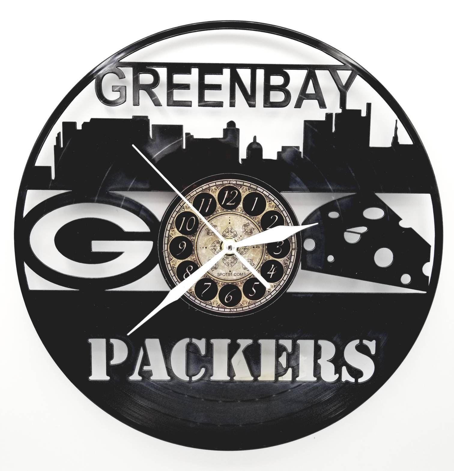 Unique Home Decor Art Clock Design Green Bay Packers Personalised Vinyl Record Wall Clock Custom Original Gift Formtech Inc Com