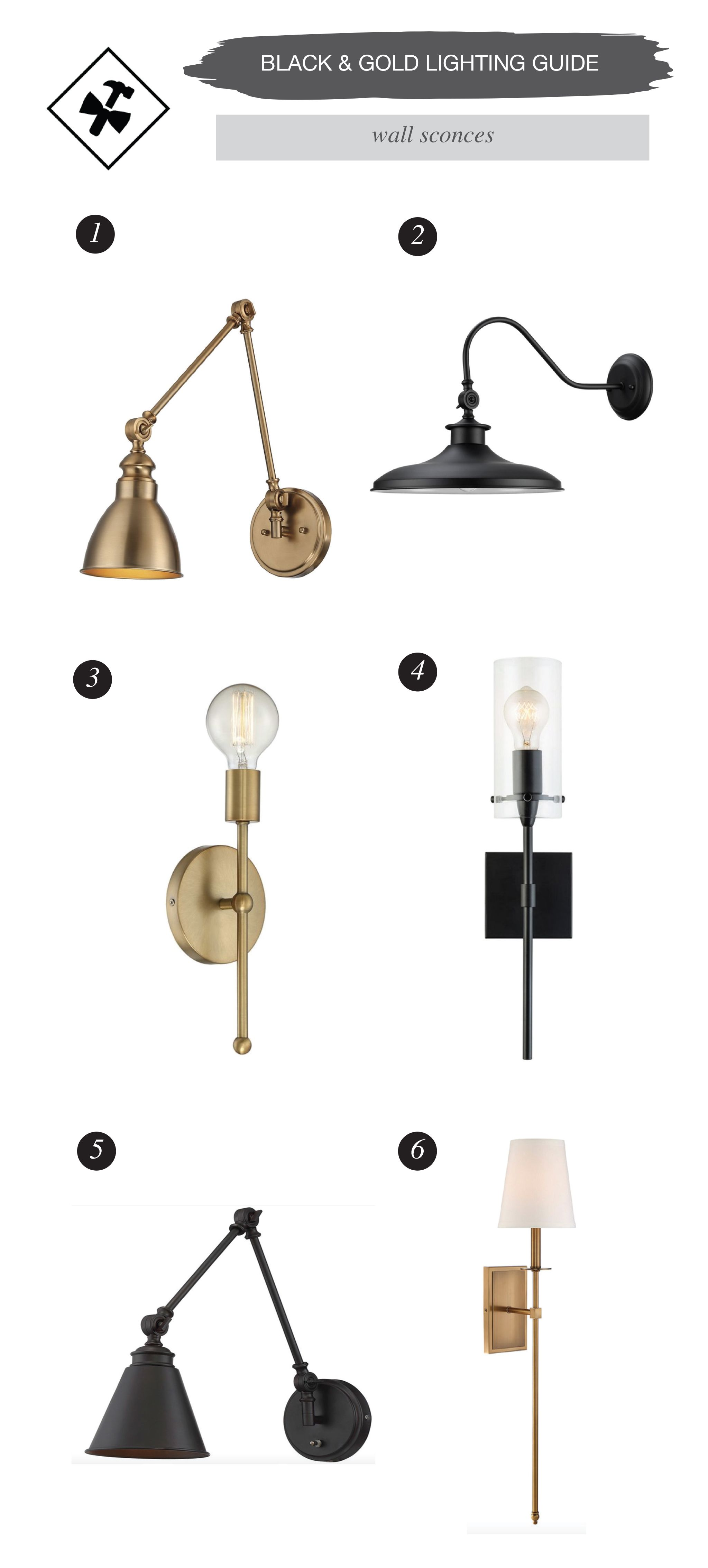 Your Guide To Black Gold Lighting Fixtures Black Is Back
