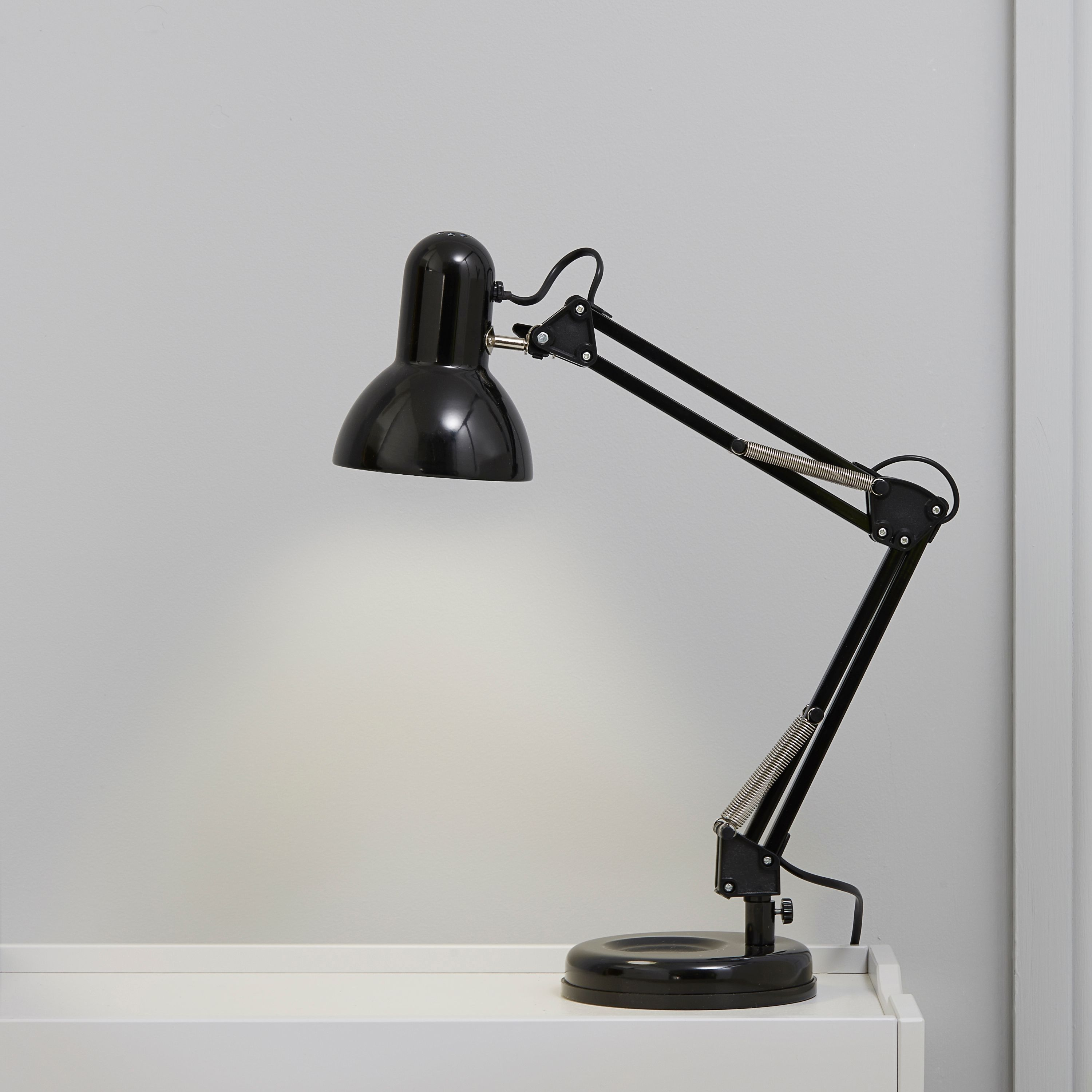 Adjustable Black Desk Lamp | Departments | DIY at B&Q | izem ...