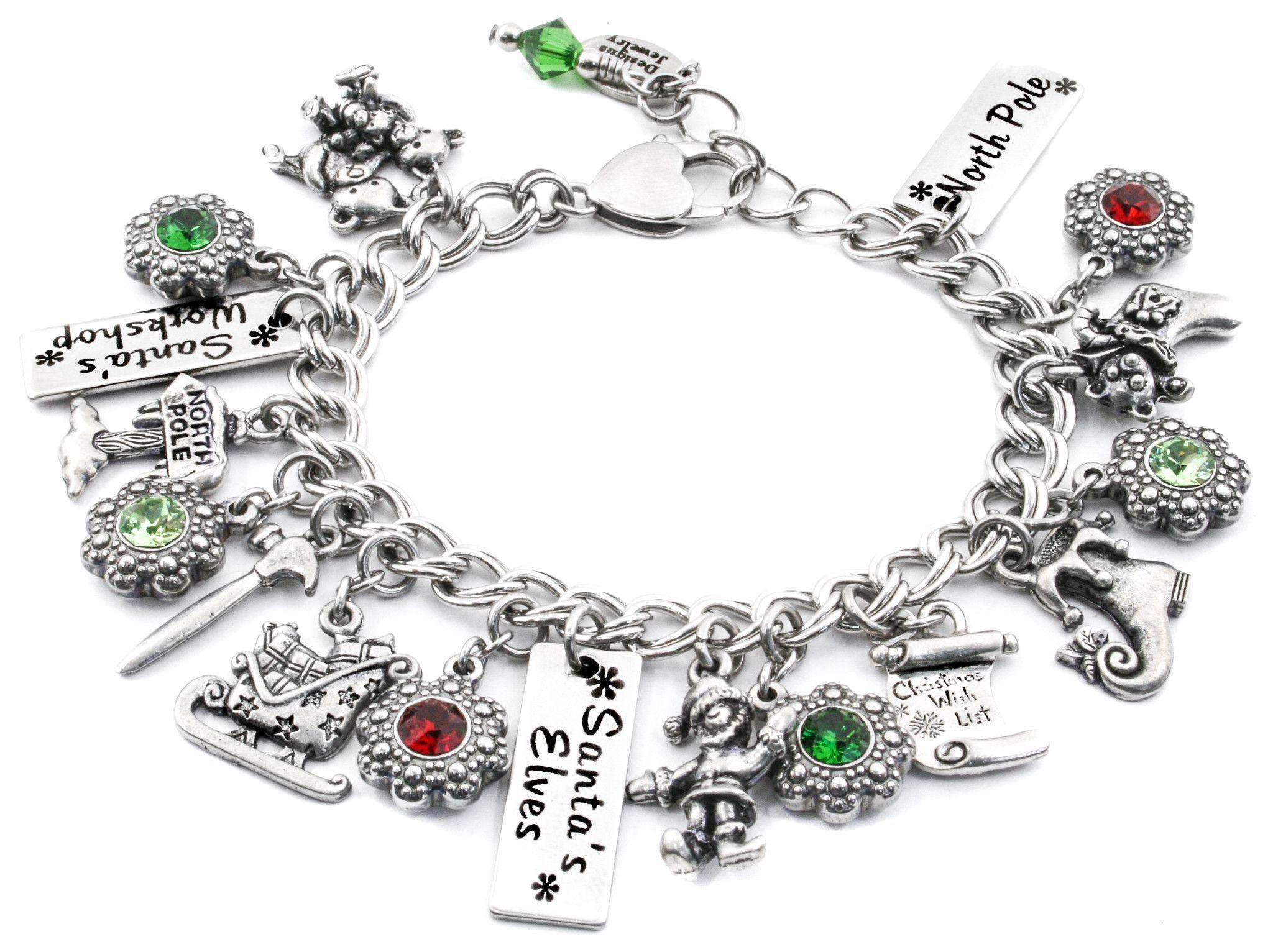 Santa Elves Charm Bracelet
