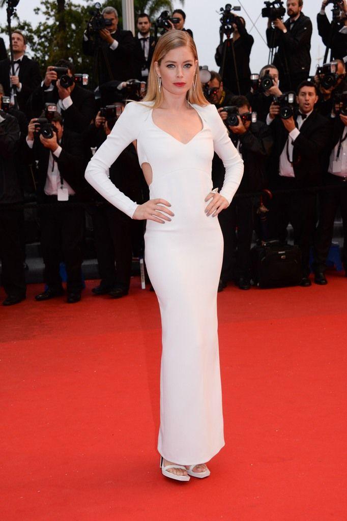 Doutzen Kroes in Calvin Klein dress at Cannes film festival