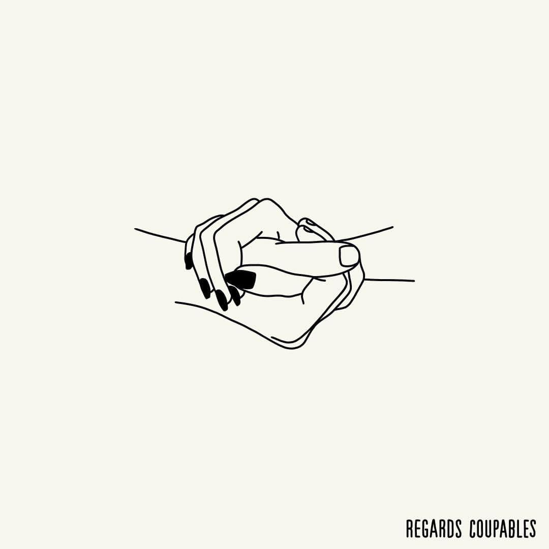 Yeah, you got that somethin' I think you'll understand When I say that somethin' I want to hold your hand #regardscoupables #eroticdrawing #eroticart (à Paris, France)