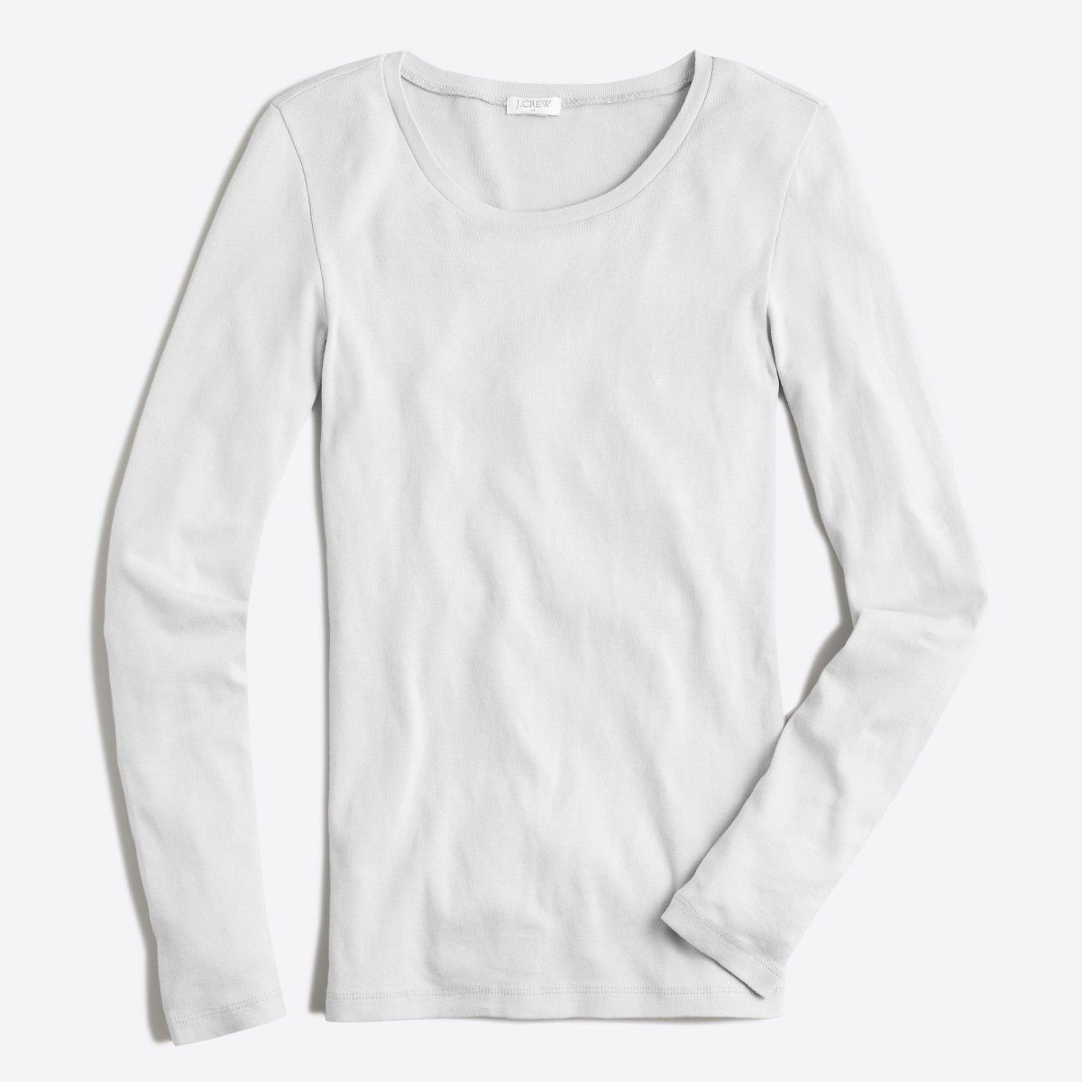 ea01e8cd489a Shop the Fine-Rib Cotton Long-Sleeve T-Shirt at J.Crew Factory and find  everyday deals on Women's Tees.