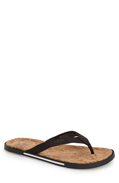 UGG Australia Bennison Leather Flip Flop
