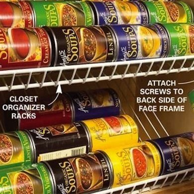 a brand-new plastic shoe holder over your pantry door, and you'll create a cheap and effective way to store snacks, spices, and any other food items that fit. You can also use it to store napkins, cutlery, water bottles, measuring spoons, small boxes of plastic bags, or any other little thing that comes to mindchen Storage Ideas - Bob Vila