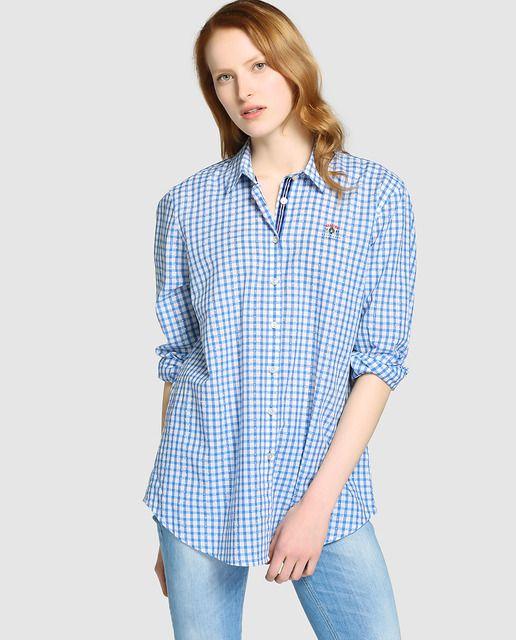 9a89eea068b Camisa de mujer Gaastra de cuadros vichy