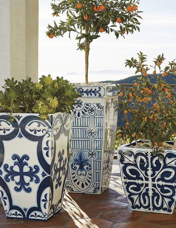 M diterran e g rten parks blumen pinterest spanien balkon und blumen - Fliesen mexikanischer stil ...
