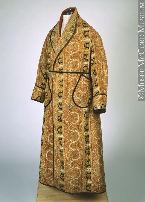 Dressing gown, circa 1880 via Musee McCord Museum | Vintage Fashion ...