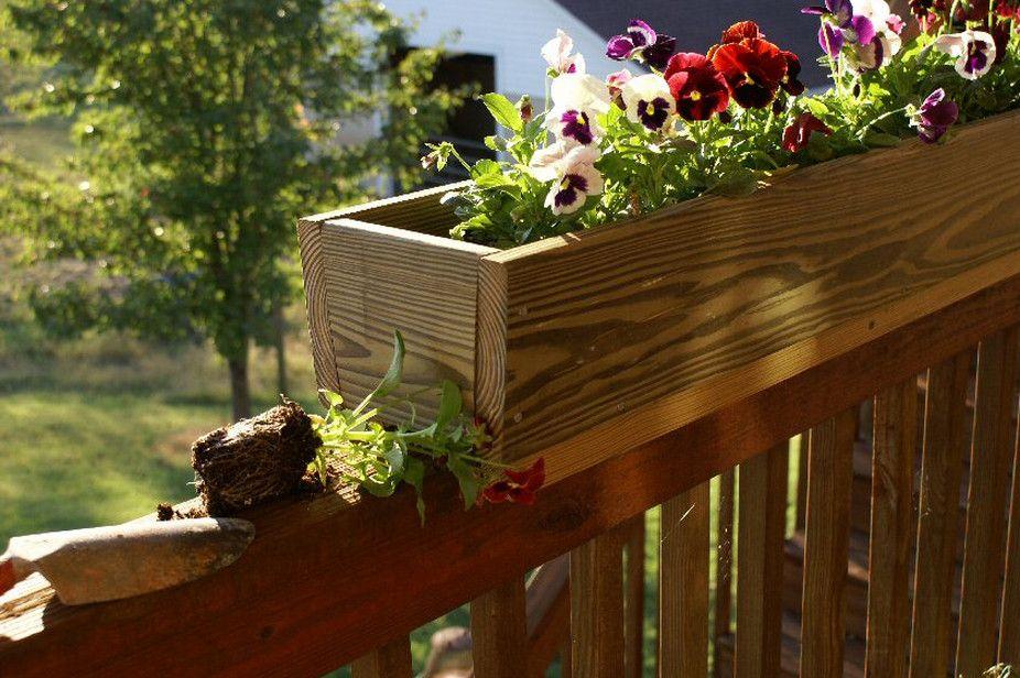 Image of: Wonderful Railing Planter   Railing flower boxes ...