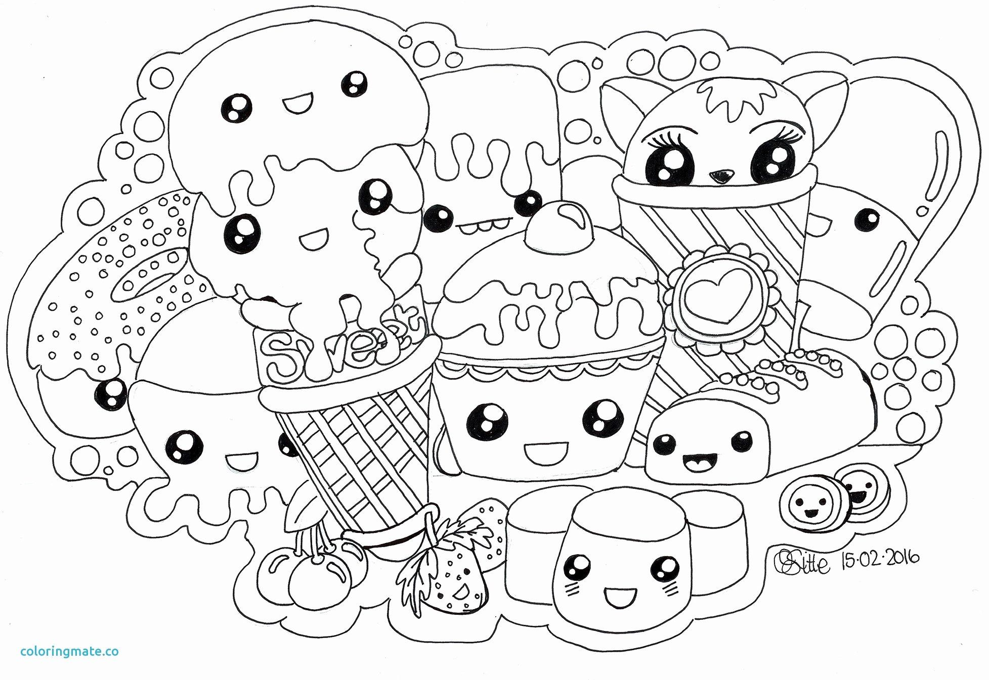 Kawaii Coloring Pages Printable In 2020 Unicorn Coloring Pages