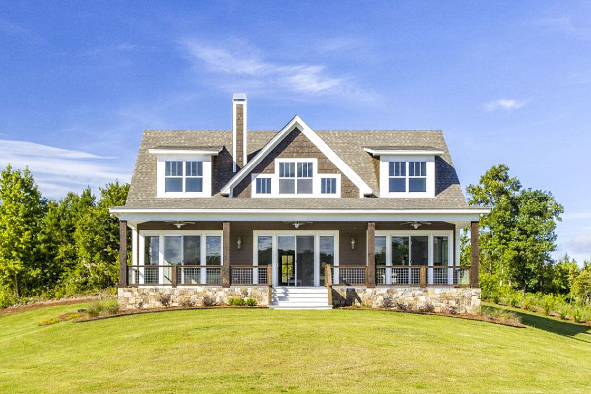 Plan 86340hh 5 Bed Country Cottage With 2 Story Family Room Rustic House Plans House Plans Cottage House Plans