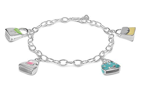 Tuscany Silver Sterling Silver Silver Butterfly Charm Bracelet of 19cm/7.5 SAn9TLOpNC