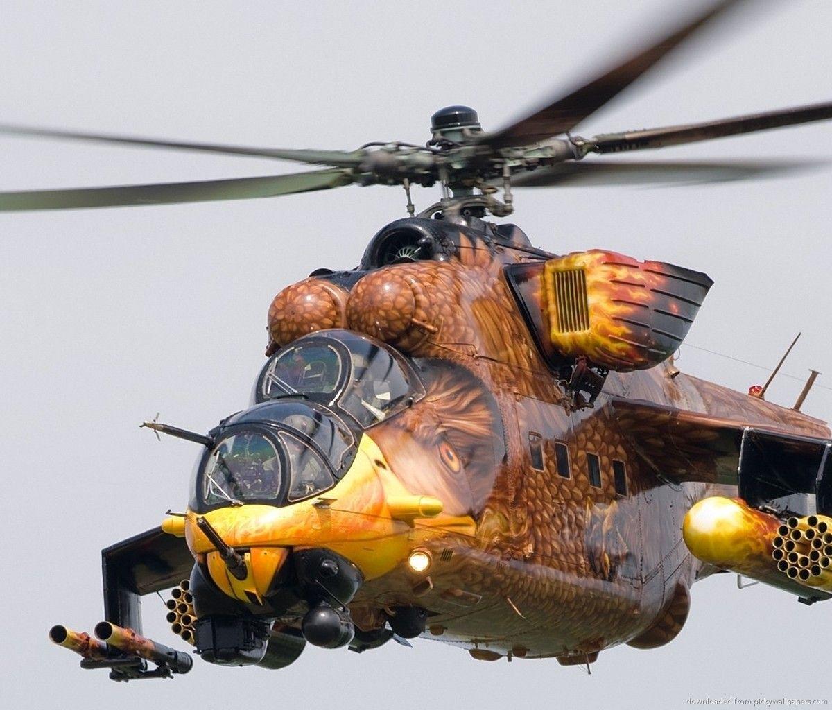 Mil Mi-24 (prefer the camo version)