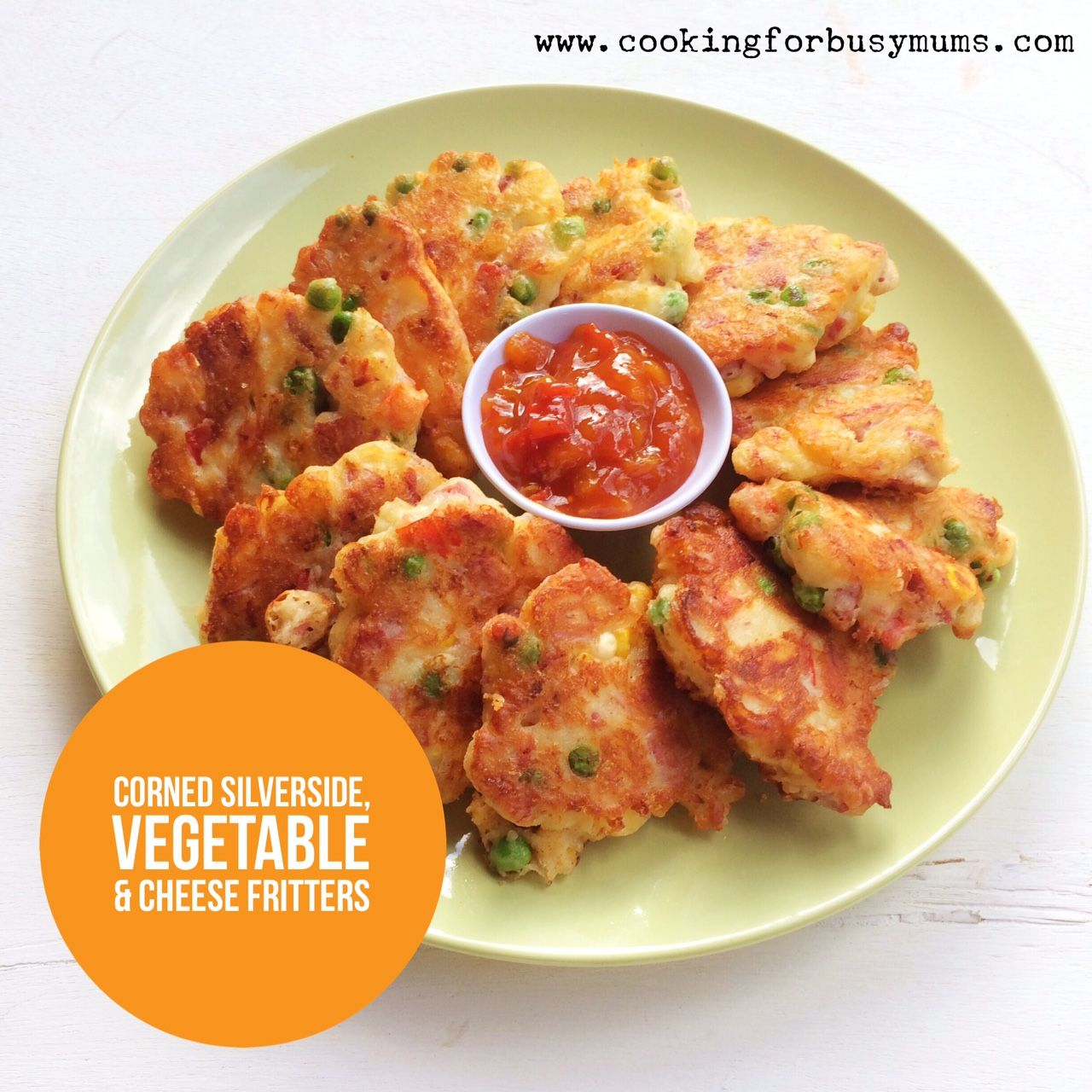 Corned Silverside, Vegetable and Cheese Fritters