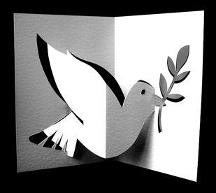 Dove pop up card | Christmas | Pop up cards, Origami art