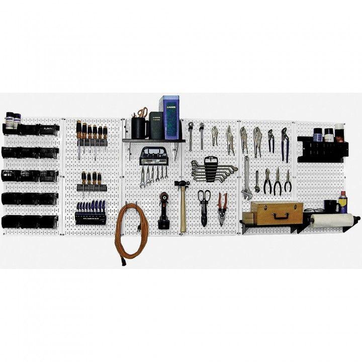 Wall Control 8' Steel Pegboard Master Workbench Kit