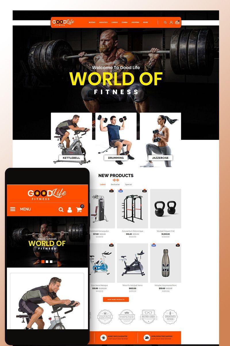 GoodLife Fitness - Online Store OpenCart Template #80618 #Ad #Online #Store #GoodLife #Fitness #Open...