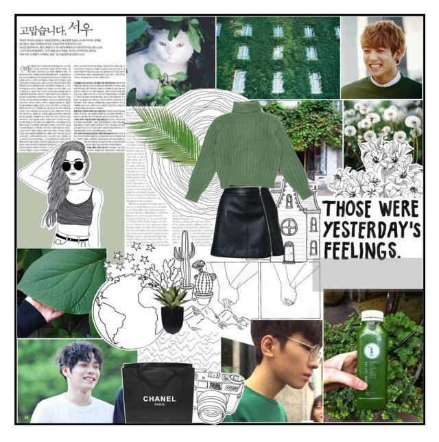 """Forget everything while talking"" by wonwoah ❤ liked on Polyvore featuring art"
