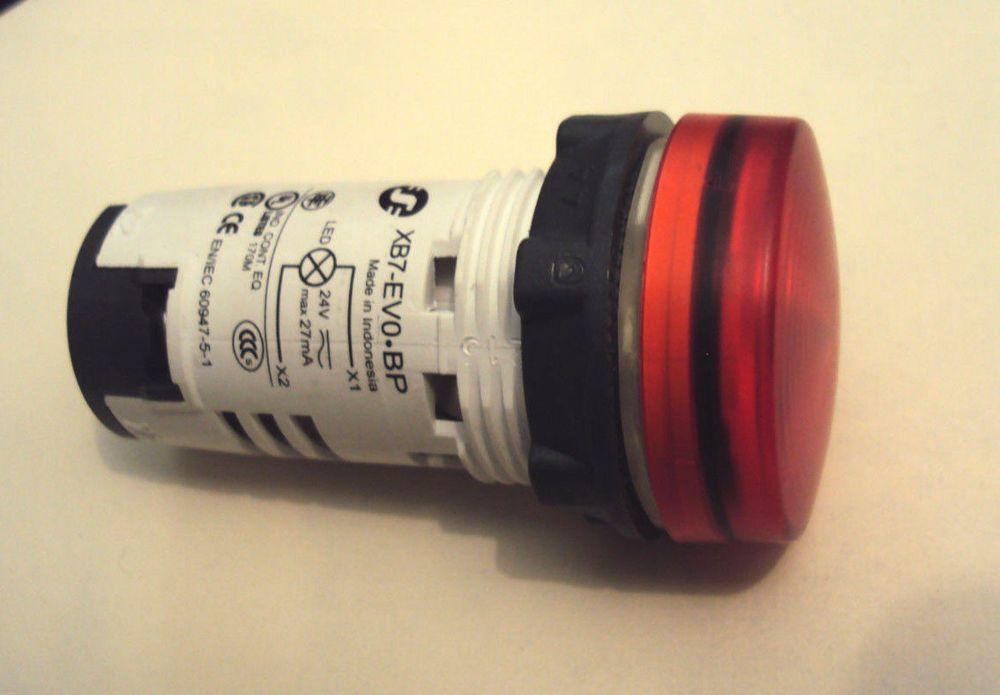 Schneider Electric Harmony Xb7ev04bp Pilot Light 24v Red Integral Led Schneiderelectric Led Electricity Ebay
