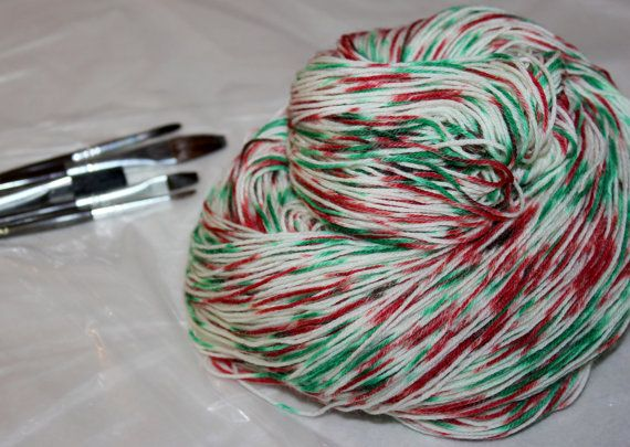 by the chimney with care limited edition color christmasholiday sock yarn 100g choose from 5 soft bases yarn by groovy hues fibers