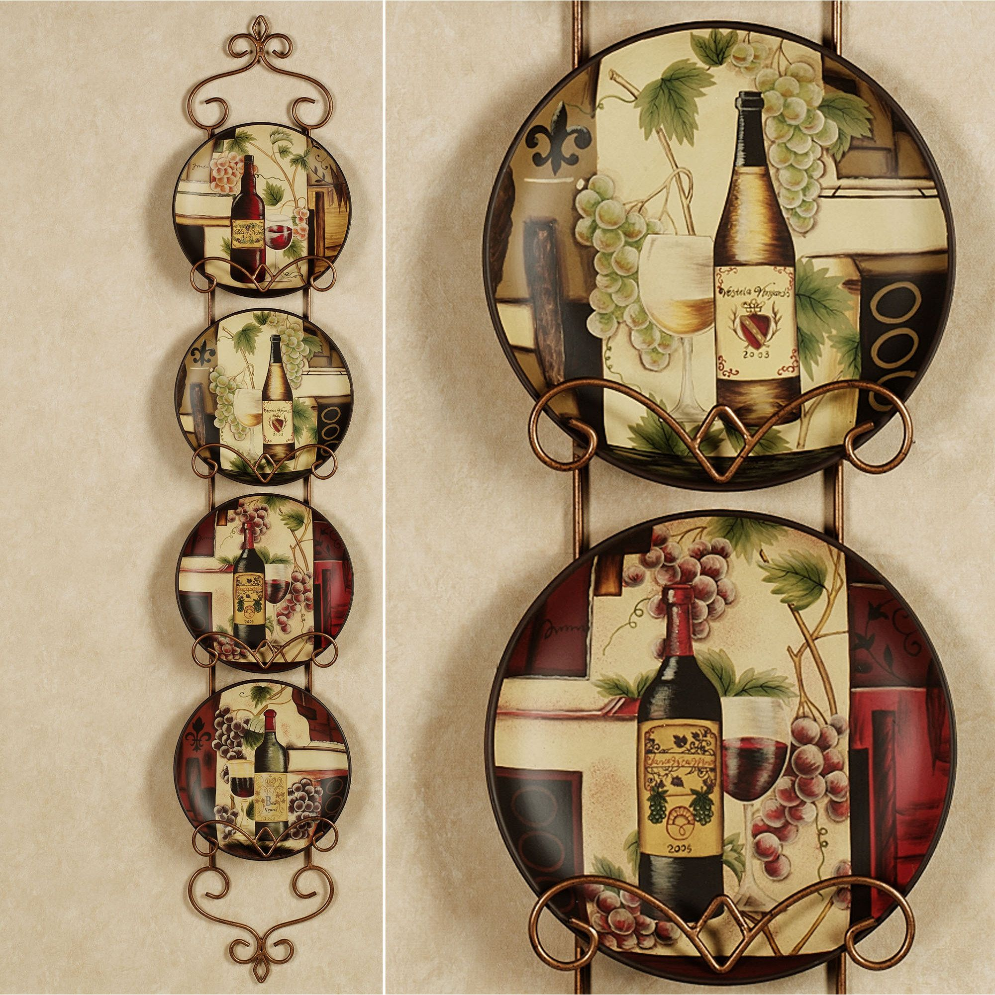 Wine Themed Kitchen I Love Decorative Plates For The Home Pinterest Wine I Love