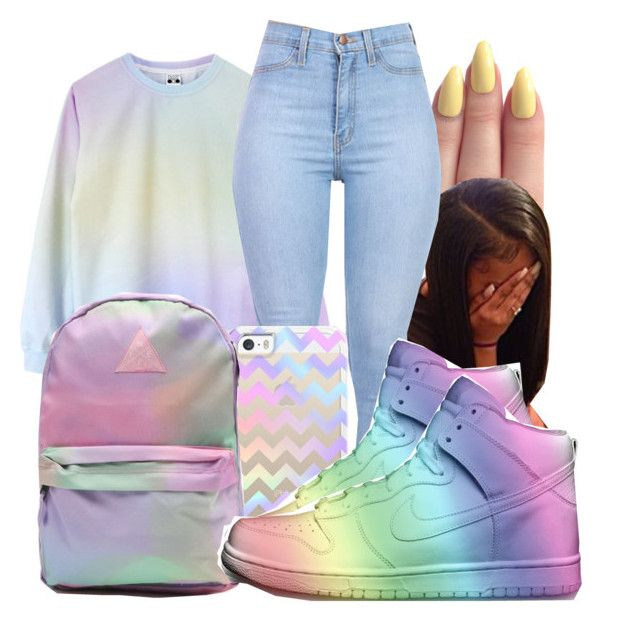 """""""Chanel"""" by honey-cocaine1972 ❤ liked on Polyvore featuring Neff and NIKE"""