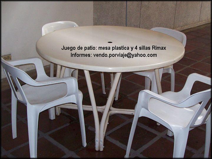 Juego de patio rimax compuesto por una mesa redonda for Mesas para patio