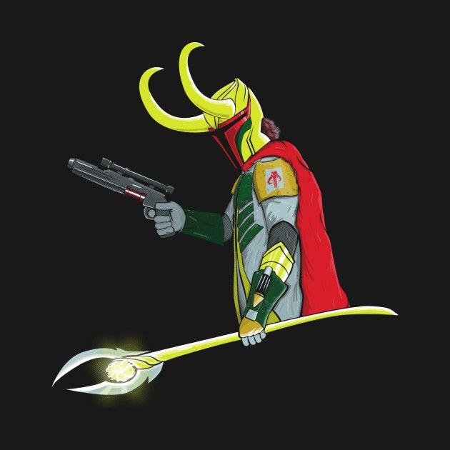 Awesome 'Loki+Fett' design on TeePublic!