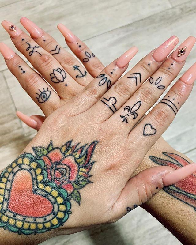 Beautiful finger symbols by rosebellelife. Finger