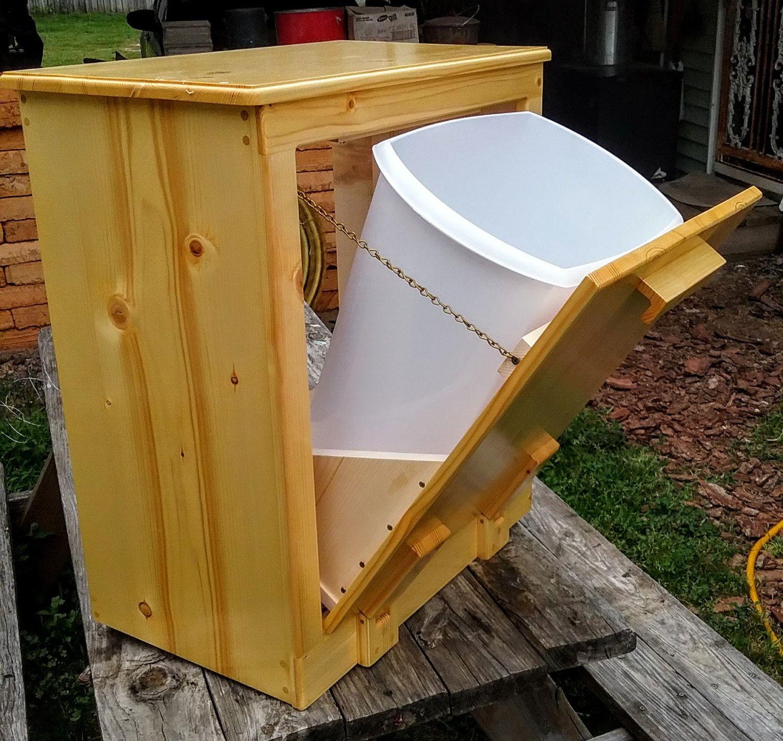trash can holder wooden handmade trash holder 12 gallon wooden