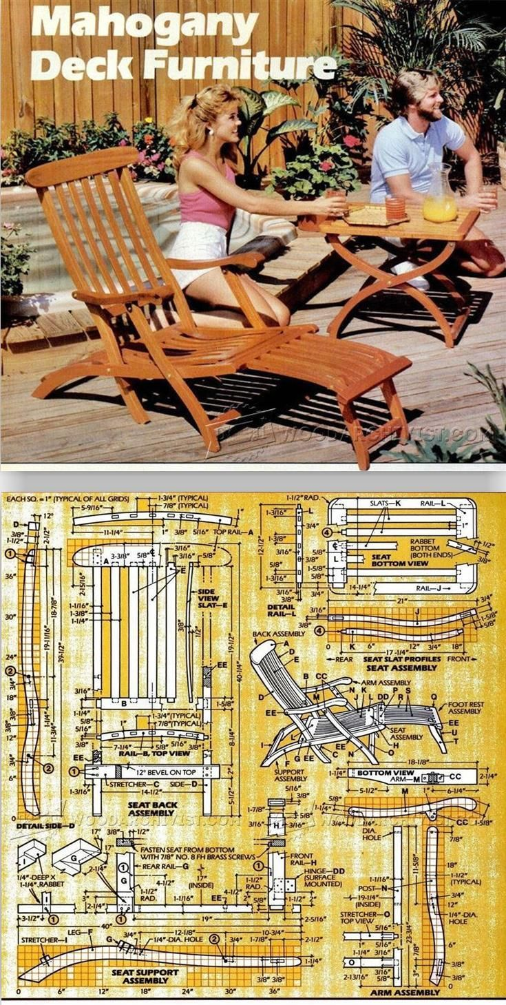 Titanic Deck Chair Plans Outdoor Furniture Plans Projects  # Muebles Titanic